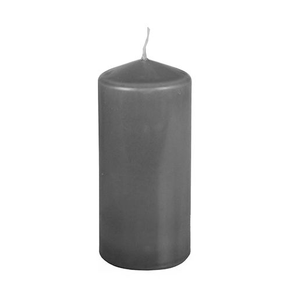 Bougie cylindrique Ø 69 mm · 150 mm gris foncé par 8