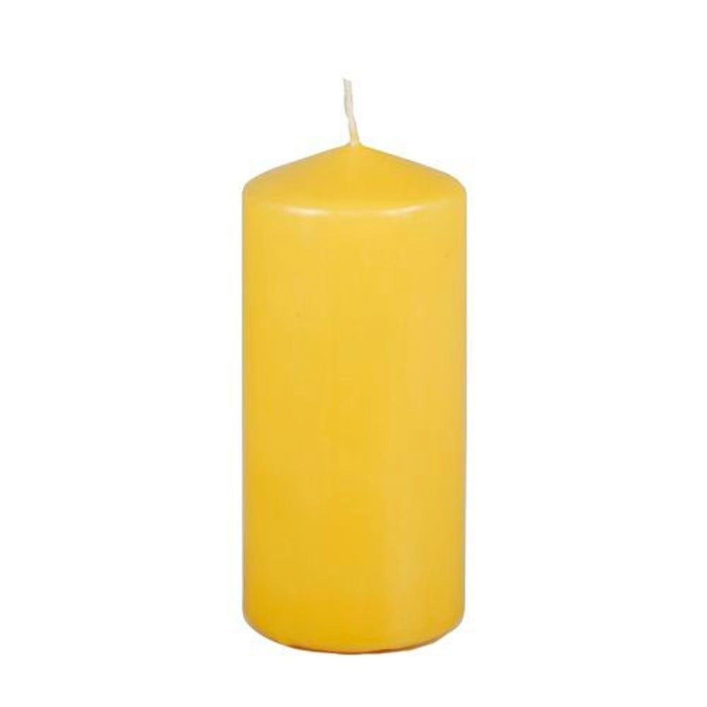 Bougie cylindrique Ø 69 mm · 150 mm jaune clair par 8