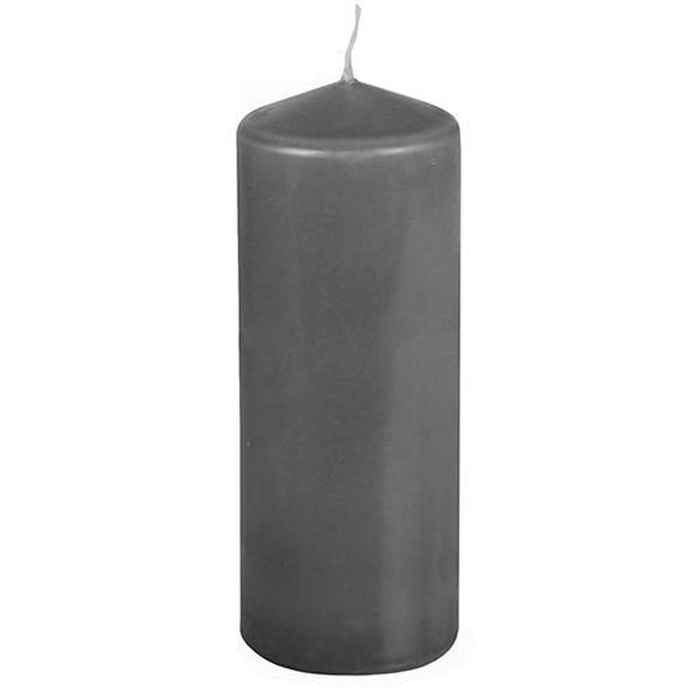 Bougie cylindrique Ø 69 mm · 180 mm gris foncé par 8