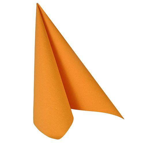 Serviette ''ROYAL Collection'' pliage 1/4 40 cm x 40 cm orange par 250