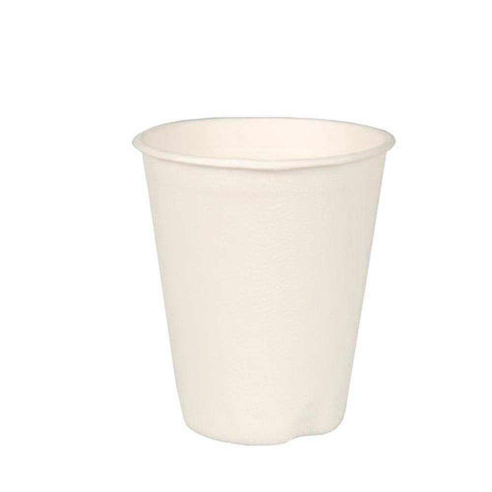 Gobelet en canne à sucre 0,2 l Ø 8 cm · 9,1 cm blanc par 120