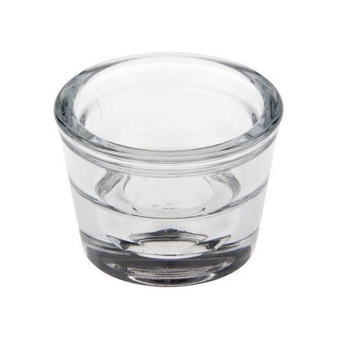 Bougeoir en verre rond Ø 60 mm · 45 mm double sens transparent  par 24