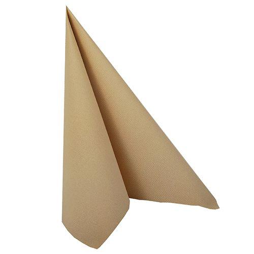 Serviette ''ROYAL Collection'' pliage 1/4 40 cm x 40 cm sable par 250