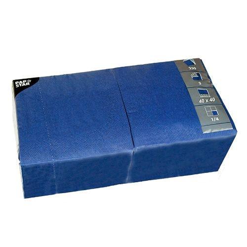 Serviette 3 plis pliage 1/4 40 cm x 40 cm bleu foncé par 1000