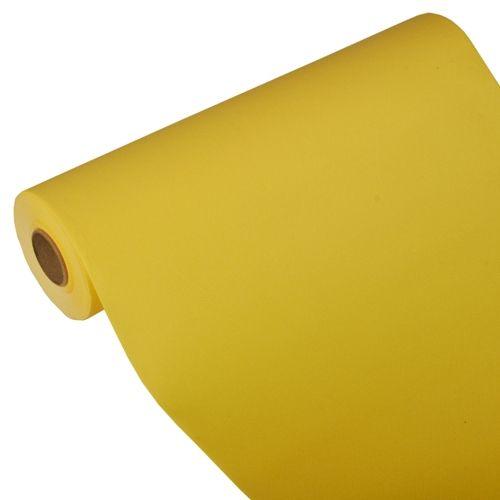 Chemin de table ''ROYAL Collection'' 24 m x 40 cm jaune par 4