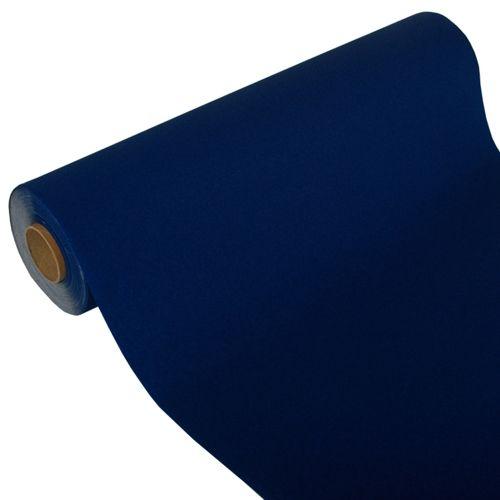 Chemin de table ''ROYAL Collection'' 24 m x 40 cm bleu foncé par 4