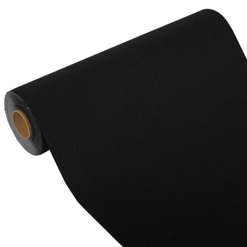 Chemin de table ''ROYAL Collection'' 24 m x 40 cm noir par 4
