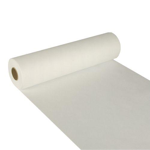 Chemin de table aspect textile ''soft selection'' 24 m x 40 cm blanc par 4