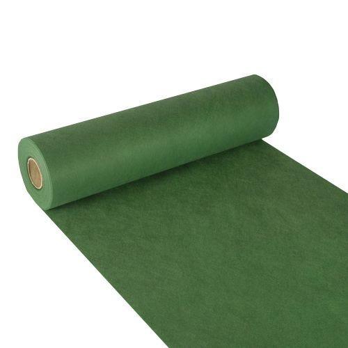 Chemin de table aspect textile ''soft selection'' 24 m x 40 cm vert foncé par 4