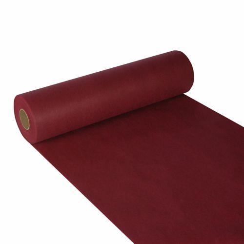 Chemin de table aspect textile ''soft selection'' 24 m x 40 cm bordeaux par 4