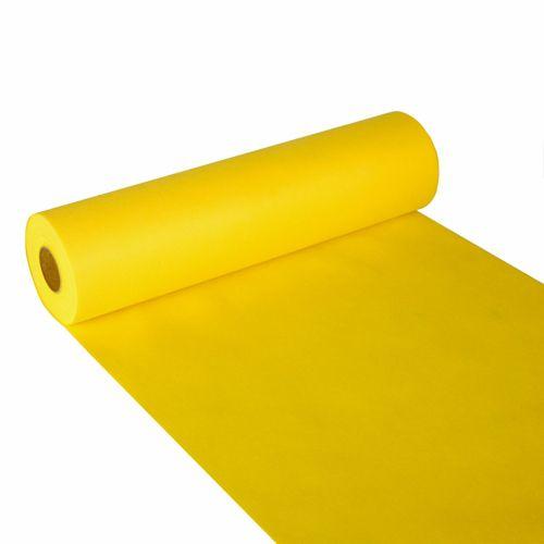 Chemin de table aspect textile ''soft selection'' 24 m x 40 cm jaune par 4