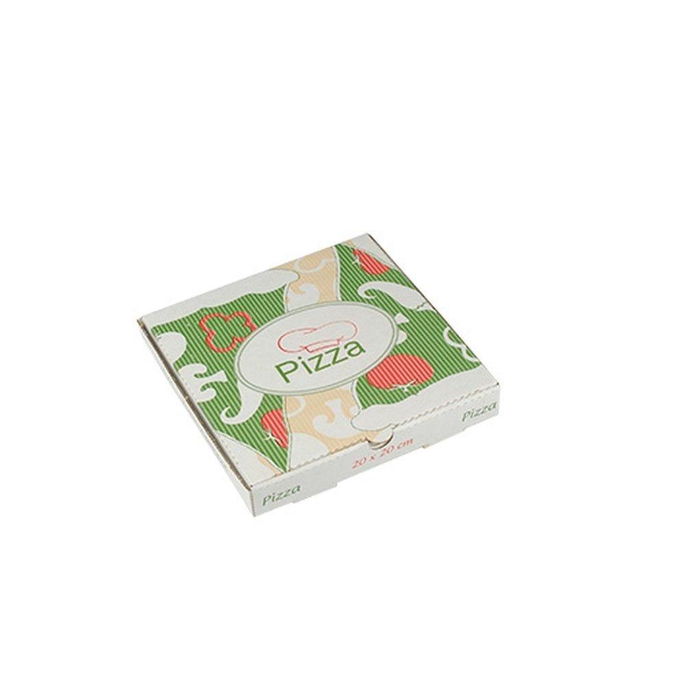 Boîte à Pizza en cellulose ''pure'' carrée 20 cm x 20 cm x 3 cm par 100