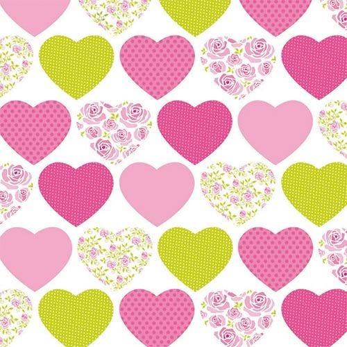 Serviette 3 plis pliage 1/4 33 cm x 33 cm ''Sweetheart'' par 200