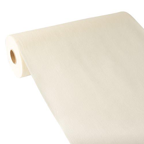 Chemin de table aspect tissu ''ROYAL Collection'' 24 m x 40 cm champagne par 4