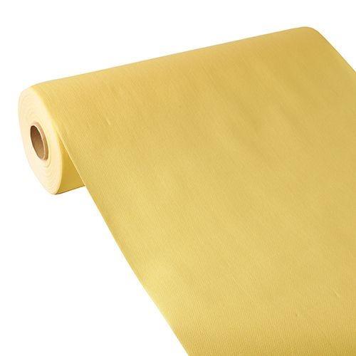 Chemin de table aspect tissu ''ROYAL Collection'' 24 m x 40 cm jaune par 4