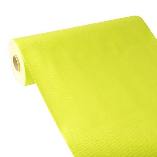 Chemin de table aspect tissu ''ROYAL Collection'' 24 m x 40 cm vert anis par 4