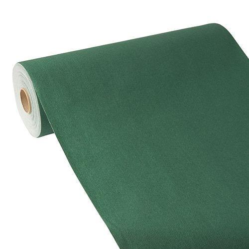 Chemin de table aspect tissu ''ROYAL Collection'' 24 m x 40 cm vert foncé par 4