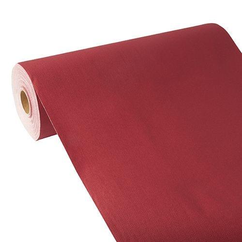 Chemin de table aspect tissu ''ROYAL Collection'' 24 m x 40 cm bordeaux par 4