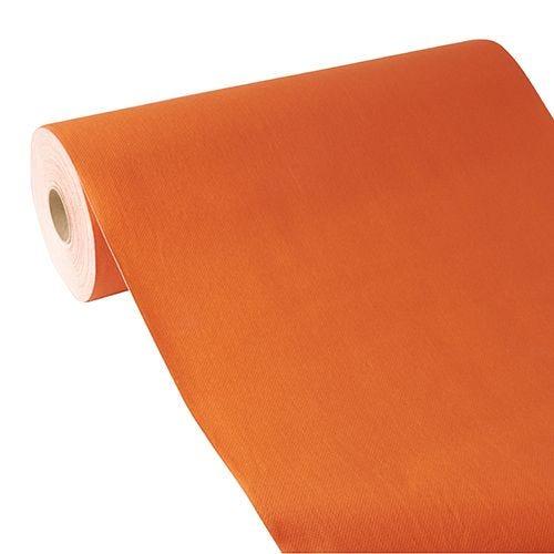 Chemin de table aspect tissu ''ROYAL Collection'' 24 m x 40 cm nectarine par 4