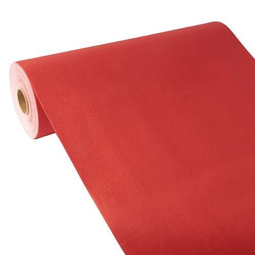 Chemin de table aspect tissu ''ROYAL Collection'' 24 m x 40 cm rouge par 4