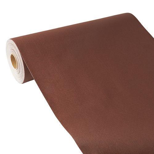 Chemin de table aspect tissu ''ROYAL Collection'' 24 m x 40 cm marron par 4