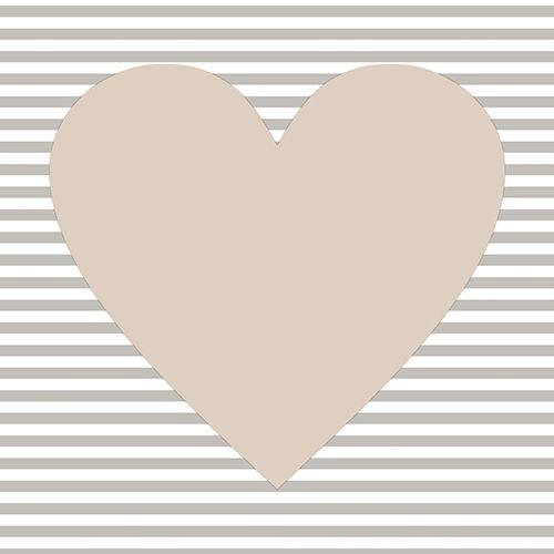 Serviette 3 plis pliage 1/4 33 cm x 33 cm taupe ''Hearty'' par 360