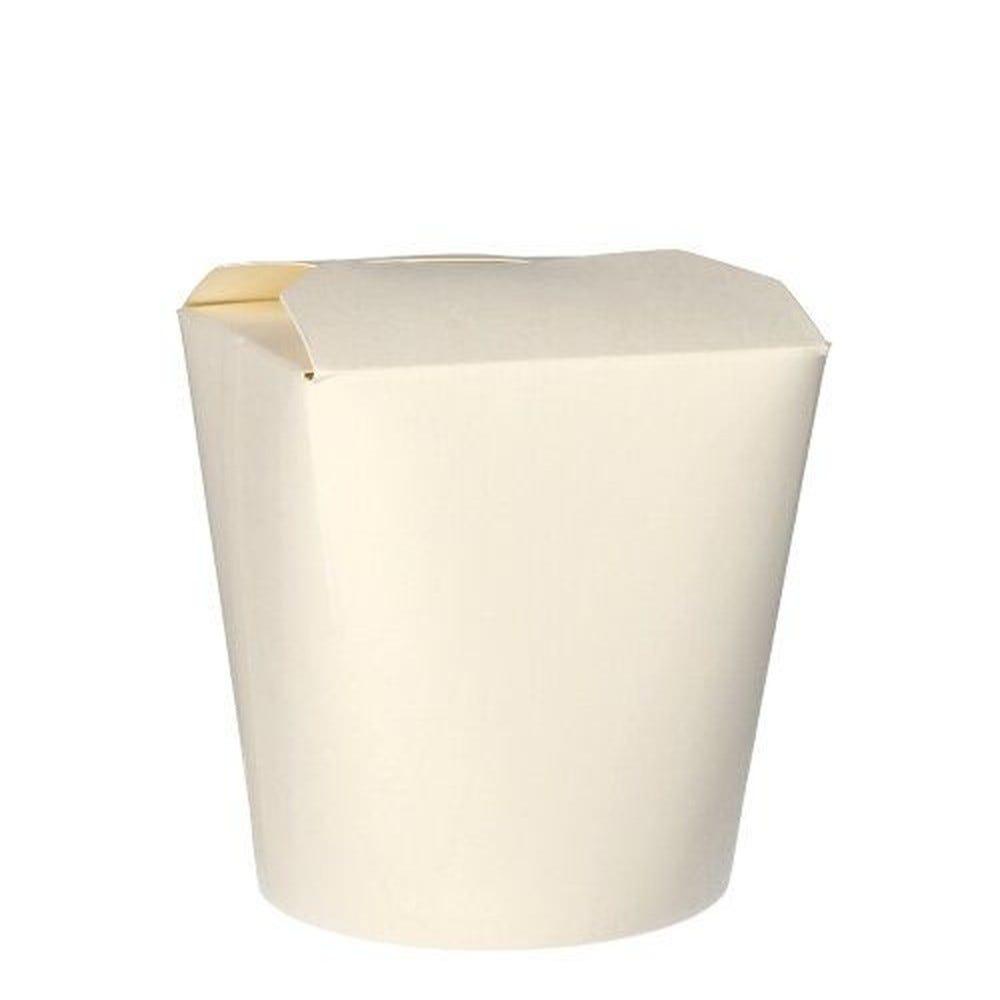 Pasta-box en carton ''pure'' 950 ml 11 cm x 10,5 cm x 9,3 cm blanc par 500