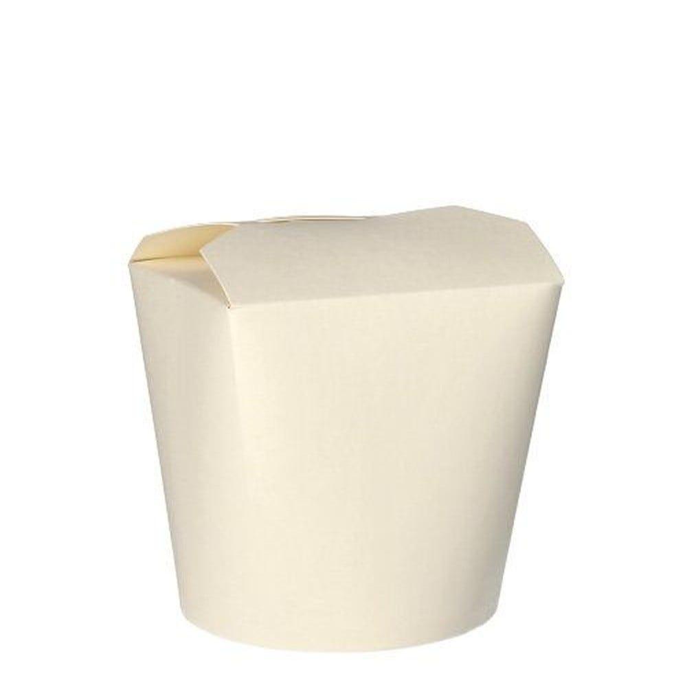 Pasta-box en carton ''pure'' 750 ml 10 cm x 10 cm x 8,5 cm blanc par 500