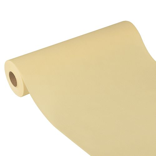 Chemin de table aspect textile ''soft selection plus'' 24 m x 40 cm crème par 4
