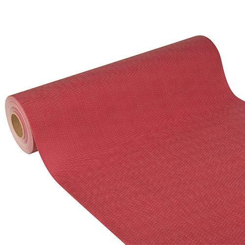 Chemin de table aspect textile 'soft selection plus' 24 m x 40 cm bordeaux par 4