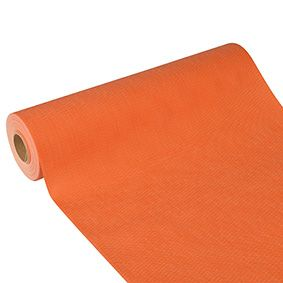 Chemin de table aspect textile ''soft selection plus'' 24 m x 40 cm orange par 4