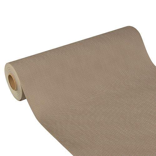 Chemin de table aspect textile ''soft selection plus'' 24 m x 40 cm gris par 4