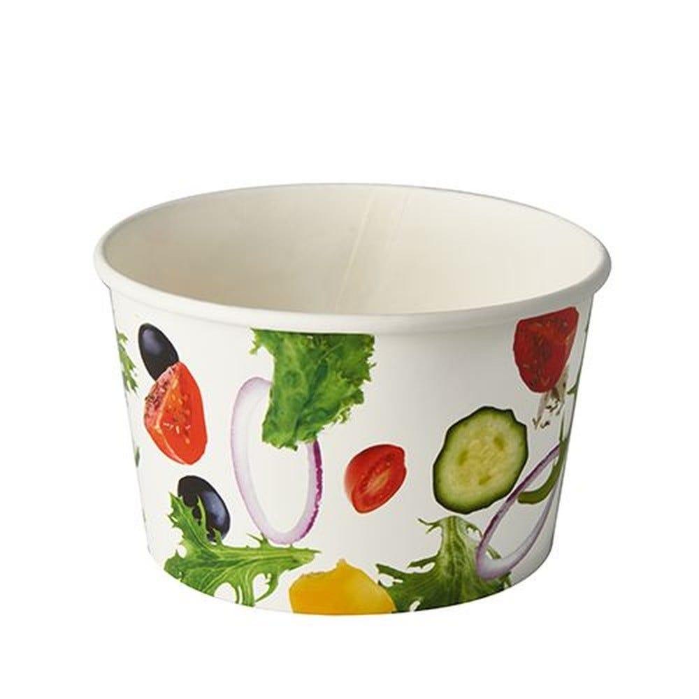 Saladier en carton ''To Go'' 600 ml Ø 12,5 cm · 7,5 cm ''Salad'' par 600