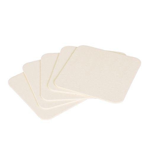 Dessous de verre carré 9,3 cm x 9,3 cm blanc par 1000