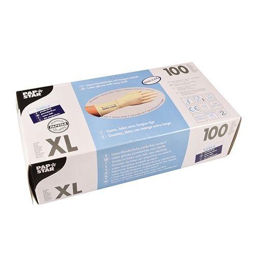 Gant en latex, non poudré blanc taille XL avec longue tige par 1000 (photo)