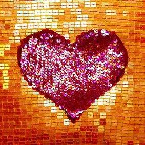 Serviette 3 plis pliage 1/4 33 cm x 33 cm ''Sequin Heart'' par 180