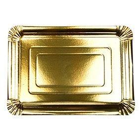 Assiette carton rectangulaire 24 cm x 33 cm couvert or par 120