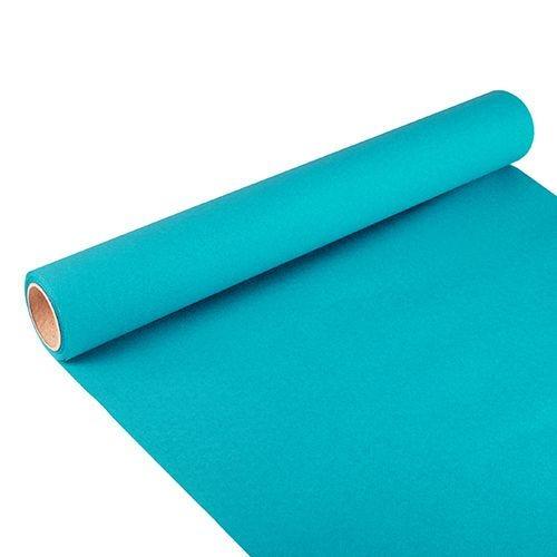 Chemin de table ''ROYAL Collection'' 3 m x 40 cm turquoise par 6