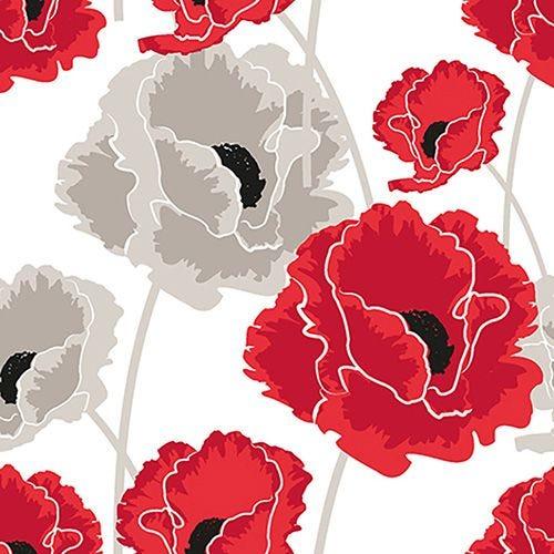 Serviette 3 plis pliage 1/4 40 cm x 40 cm ''Poppy'' par 200
