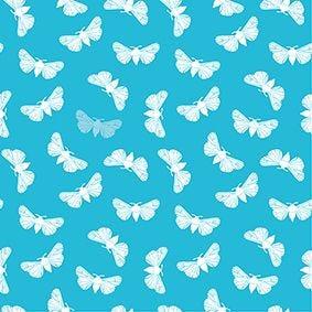 Serviette 3 plis pliage 1/4 40 cm x 40 cm turquoise ''Butterfly'' par 200