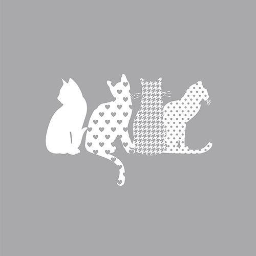 Serviette 3 plis pliage 1/4 33 cm x 33 cm ''Cats'' par 200