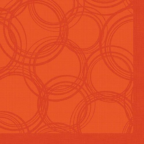 Serviette 'ROYAL Collection' pliage 1/4 40 cm x 40 cm nectarine 'Bulles' par 250