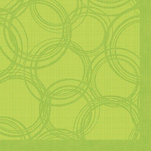 Serviette 'ROYAL Collection' pliage 1/4 40 cm x 40 cm vert anis 'Bulles' par 250