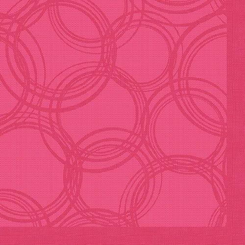 Serviette 'ROYAL Collection' pliage 1/4 40 cm x 40 cm fuchsia 'Bubbles' par 250