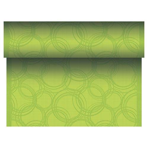 Chemin de table aspect tissu 'ROYAL Collection' 24 m x 40 cm vert 'Bulles' par 4