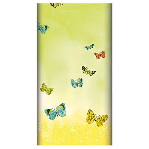 Nappe aspect textile Airlaid 120 cm x 180 cm ''Papillons'' par 5