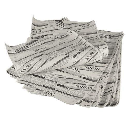 5 kg Papier emballage, Papier sulfurisé 35 cm x 25 cm ''Newsprint'' ingraissable (photo)