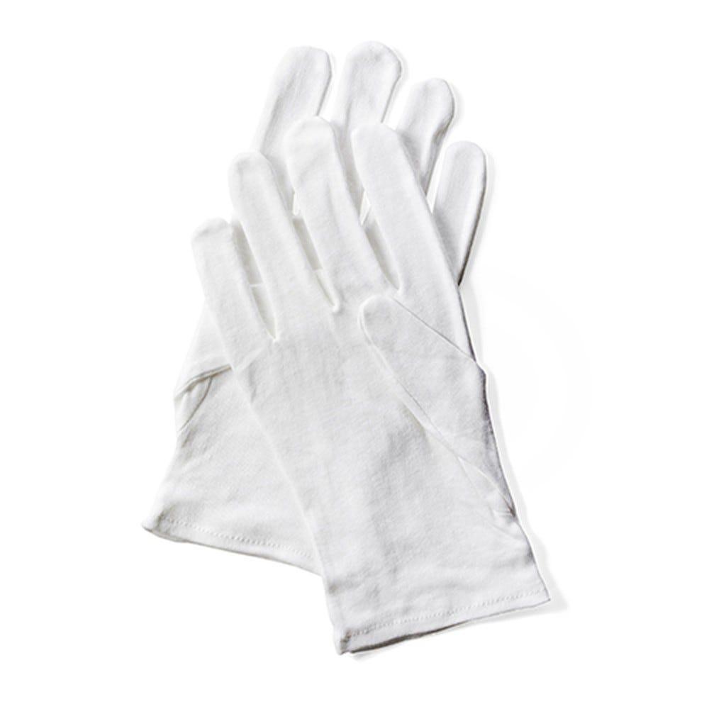 Gant de coton blanc Taille M par 24 (photo)