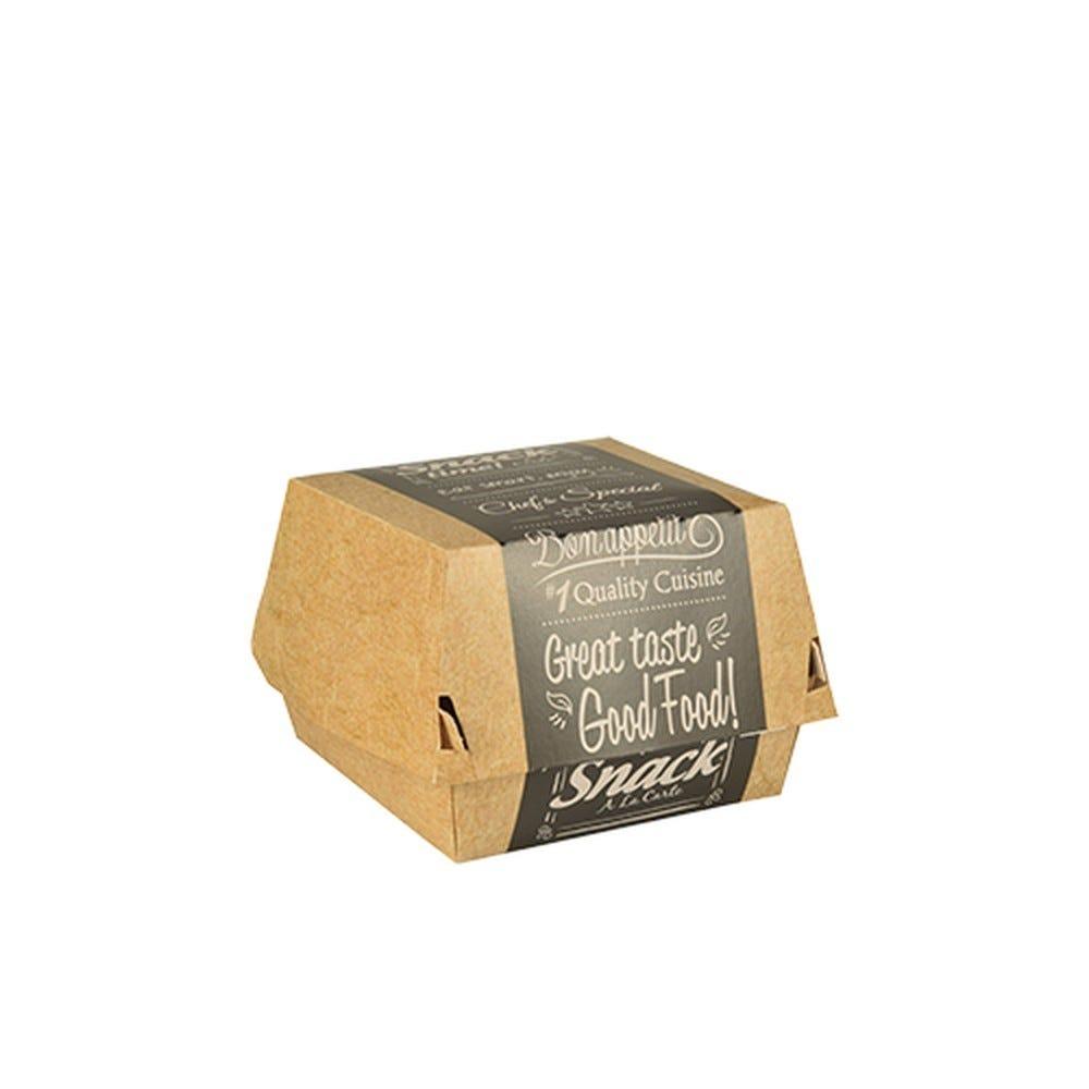 Boite à hamburger en carton fibres vierges 7 cm x 9 cm x 9 cm petit par 500