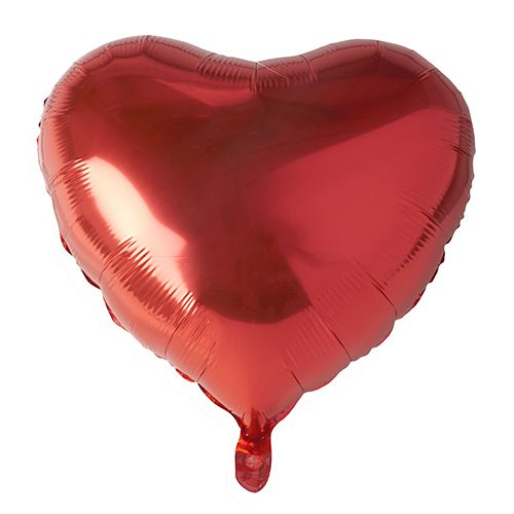 Ballon aluminium Ø 45 cm rouge ''Coeur'' par 24
